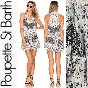 NWT Poupette St Barth Jolie Mini B+W Galaxy Dress